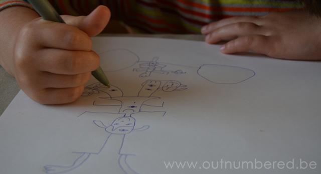 creatieve uitdaging voor kleuters - teken ietsdat niet bestaat