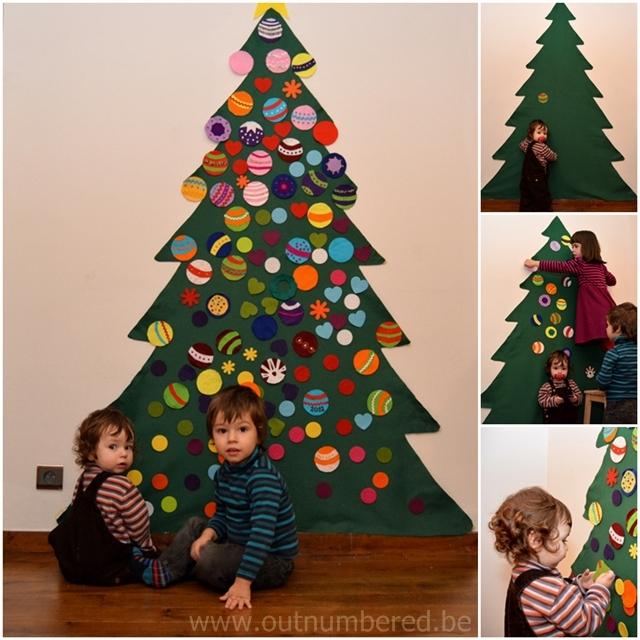 Knutselen met kinderen - zelfgemaakte kerstboom
