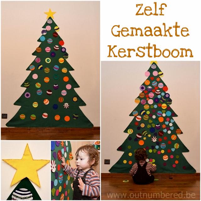 Knutselen met kinderen - spelen met de zelfgemaakte kerstboom