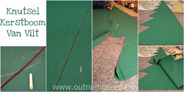 Knutselen met kinderen - Uitknippen van de zelfgemaakte kerstboom