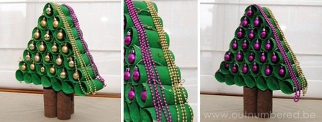 Favoriete Knutselen voor kerst met kinderen: maak een kerstboom van WC &AV29