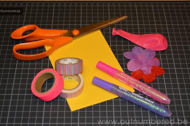 Maak je eigen leuke verjaardagskaarten met ballonnen en washi tape