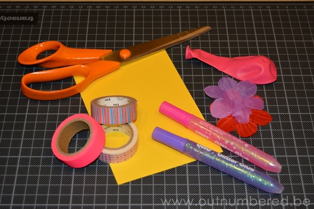 Make your own birthday cards with washi tape and balloons
