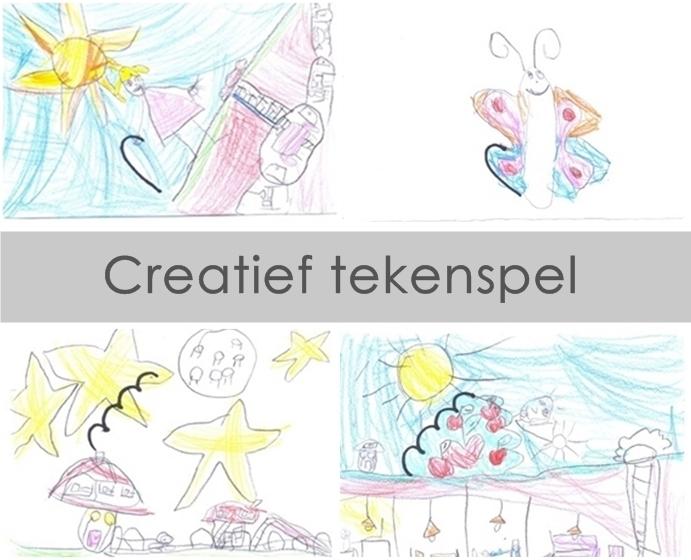 Creatief tekenen met kinderen - een tekenspel op basis van een krabbel