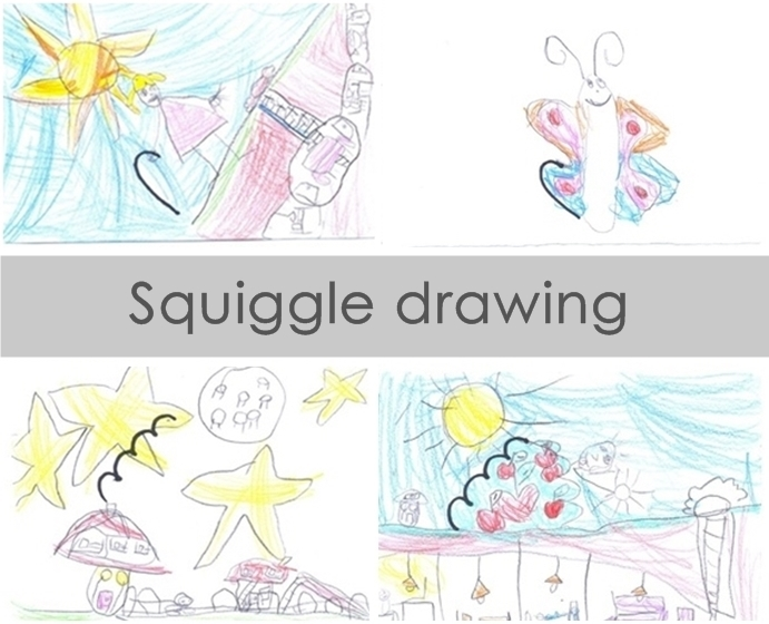 Creative with kids - fun drawing squiggle drawing game