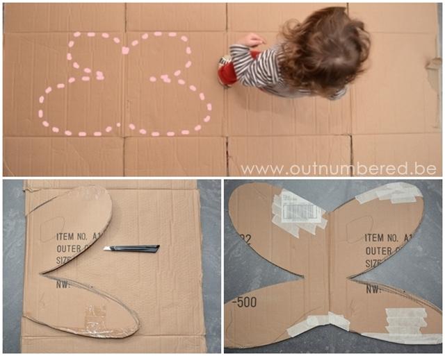Knutsel je eigen fee vleugels van een kartonnen doos outnumbered - Hoe om kleuren te maken ...