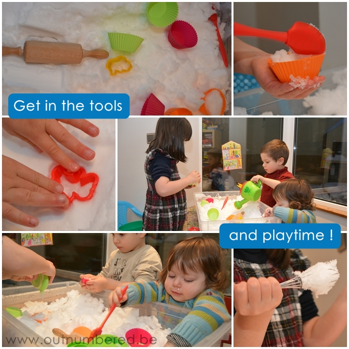 kids indoor snow play activity
