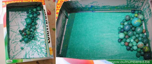schilderen met knikkers voor kinderen