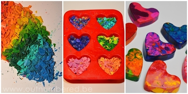 DIY wax crayons