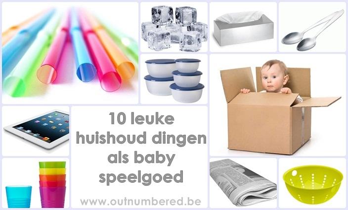 Baby speelgoed - van huishoud dingen tot leuk baby speelgoed